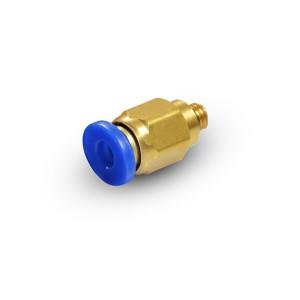 Branchez le mamelon droit fil 6mm M5 PC06-M05