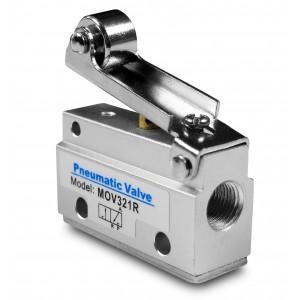 Vanne manuelle 3/2 MOV321R Actionneurs 1/8 pouces