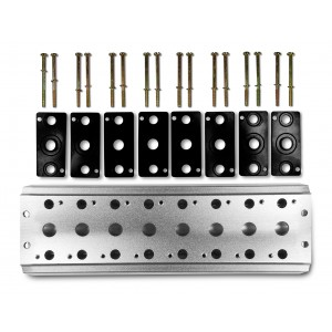 Plaque collectrice pour connecter 8 vannes 1/4 de série 4V2 4A groupe terminal de distributeurs 5/2 5/3