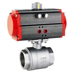 Robinet à bille en acier inoxydable 2 1/2 pouces DN65 avec actionneur pneumatique AT83