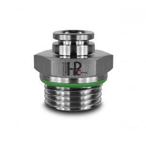 Branchez le mamelon droit en acier inoxydable tuyau 8mm filetage 1/2 pouce PCS08-G04