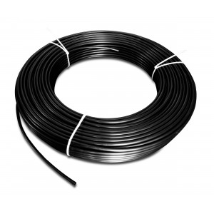 Flexible pneumatique en polyamide PA Tekalan 4 / 2,5 mm 1m noir