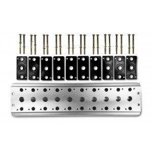 Plaque collectrice pour connecter 10 vannes 1/4 de série 4V2 4A groupe terminal de distributeurs 5/2 5/3