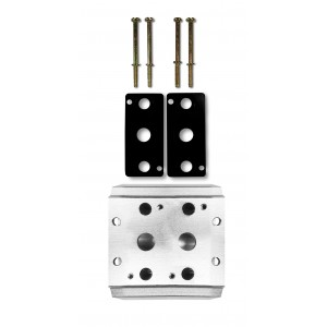 Plaque collectrice pour connecter 2 vannes 1/2 série 4V4 groupe terminal terminal 5/2 5/3