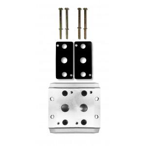 Plaque collectrice pour connecter 2 vannes 1/4 de série 4V2 4A groupe terminal de distributeurs 5/2 5/3