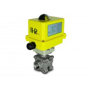 Robinet à tournant sphérique en acier inoxydable 1 pouce DN25 PN125 avec actionneur électrique A250