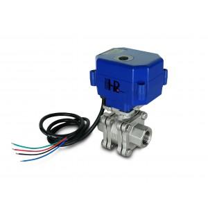 Robinet à tournant sphérique 1/2 pouce PN125 en acier inoxydable avec actionneur électrique A80 ou A82
