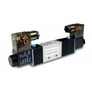 Electrovanne 5/3 4V230E 1/4 pouce pour vérins pneumatiques 230V ou 12V, 24V