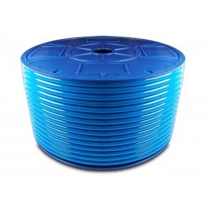 Tuyau pneumatique en polyuréthane PU 6/4 mm 1m bleu