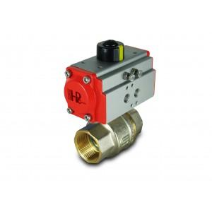 Robinet à bille en laiton 1 1/2 pouce DN40 avec actionneur pneumatique AT52
