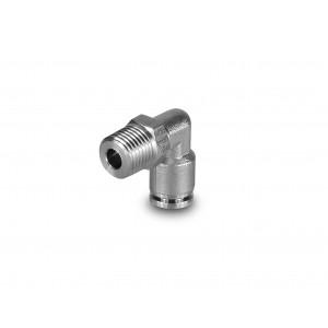 Tuyau en acier inoxydable coudé à embout 8mm filetage 1/4 pouce PLSW08-G02
