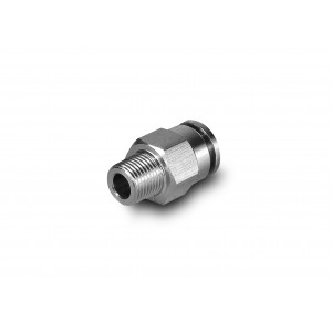Tuyau droit en acier inoxydable de mamelon 16mm filetage 1/2 pouce PCSW16-G04
