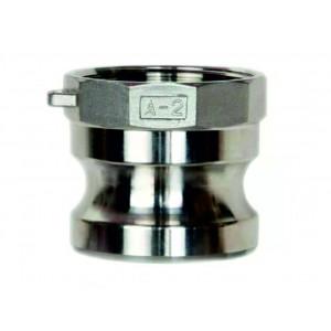 Connecteur Camlock - type A 1 1/4 pouce DN32 SS316