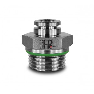 Branchez le mamelon droit en acier inoxydable tuyau 10mm filetage 3/8 pouces PCS10-G03