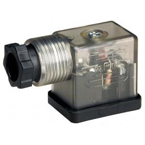 Connecteur à électrovanne DIN 43650B avec LED - petit