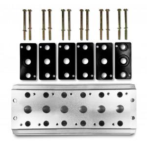 Plaque collectrice pour connecter 6 vannes 1/4 de série 4V2 4A groupe terminal de distributeurs 5/2 5/3