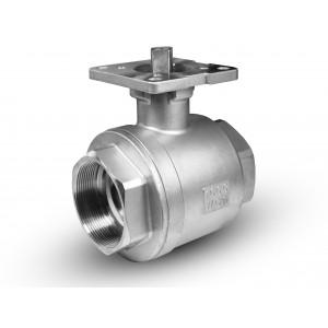 Robinet à bille en acier inoxydable 2 pouces DN50 plaque de montage ISO5211