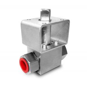 Robinet à bille haute pression 1/4 pouce SS304 HB22 plaque de montage ISO5211