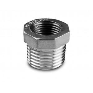 Réduction en acier inoxydable 1 1/2 - 1 1/4 pouces