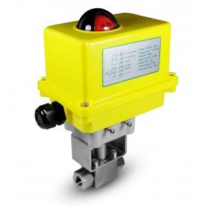 """Robinet à bille haute pression 1/2 """"SS304 HB22 avec actionneur électrique A250"""
