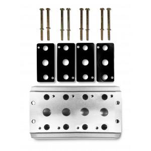 Plaque collectrice pour connecter 4 vannes 1/2 série 4V4 groupe terminal de distributeurs 5/2 5/3