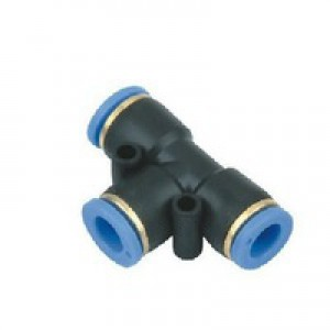 Té de mamelon de prise PE06 tuyau 6mm