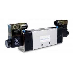 Electrovanne 4V220 5/2 1/4 pouce pour vérins pneumatiques 230V ou 12V, 24V