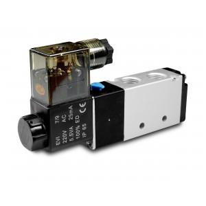 Electrovanne 5/2 4V410 1/2 pouce pour vérins pneumatiques 230V ou 12V, 24V