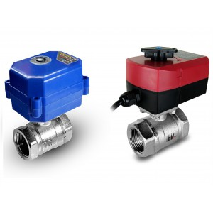 Robinet à bille 1 pouce avec actionneur électrique A80 ou A82