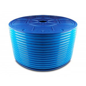 Tuyau pneumatique en polyuréthane PU 6/4 mm 200m bleu