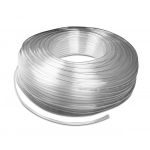 Tuyau pneumatique en polyuréthane PU 6/4 mm 1m transp.