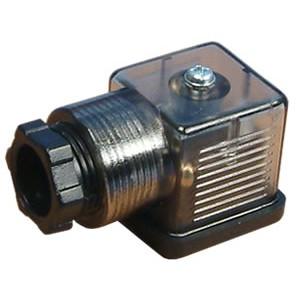 Connecteur à électrovanne 18mm DIN 43650 avec LED