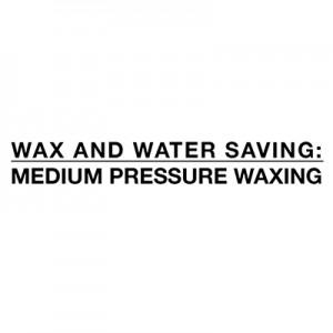 Économie d'eau et de cire - moyenne pression de fartage